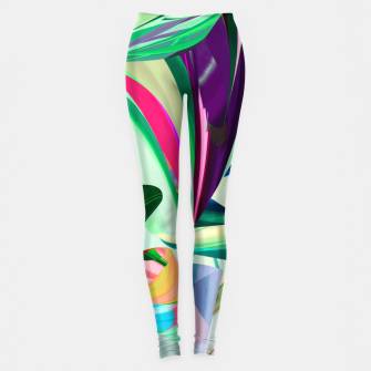 Thumbnail image of Abstract green vividity Legginsy, Live Heroes