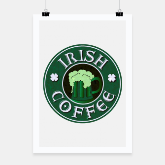 Thumbnail image of Irish Coffee Parody Poster, Live Heroes