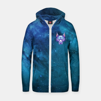 Miniature de image de Blue Space Zip up hoodie, Live Heroes