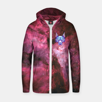 Thumbnail image of Red Space Zip up hoodie, Live Heroes