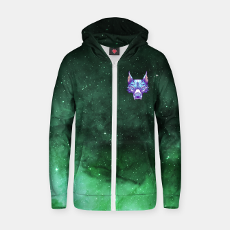 Thumbnail image of Green Space Zip up hoodie, Live Heroes