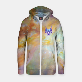 Thumbnail image of Yellow Space Zip up hoodie, Live Heroes