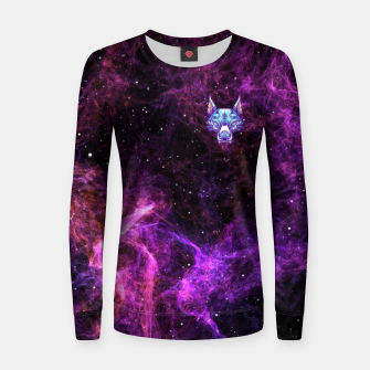 Thumbnail image of Purple Space Women sweater, Live Heroes
