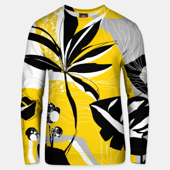 Miniatur abstract tropical plants Unisex sweater, Live Heroes