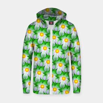 Thumbnail image of Seamless Flowers Zip up hoodie, Live Heroes