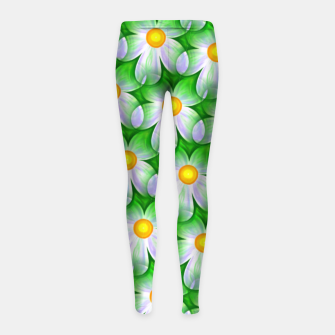 Thumbnail image of Seamless Flowers Girl's leggings, Live Heroes