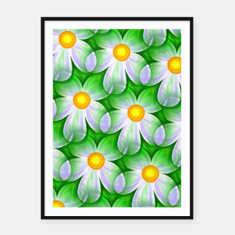Thumbnail image of Seamless Flowers Framed poster, Live Heroes