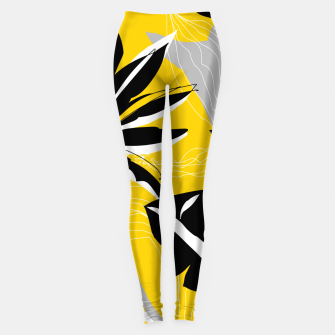 Thumbnail image of abstract tropical plants Leggings, Live Heroes