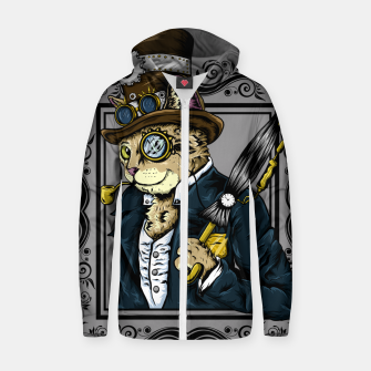 Thumbnail image of Gentle Cat Zip up hoodie, Live Heroes