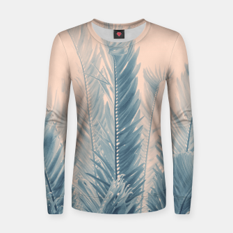 Thumbnail image of Tropical Leaves Dream #4.1 #tropical #decor #art  Frauen sweatshirt, Live Heroes