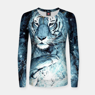 Thumbnail image of Painted Tiger Women sweater, Live Heroes