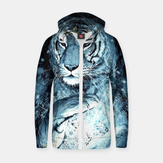 Thumbnail image of Painted Tiger Zip up hoodie, Live Heroes