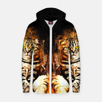 Miniature de image de cat sitting like human ws std Zip up hoodie, Live Heroes
