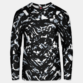 Dark Abstract Print Unisex sweater obraz miniatury