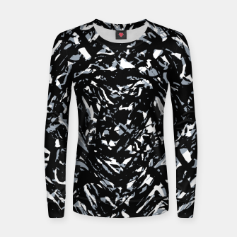 Dark Abstract Print Women sweater obraz miniatury
