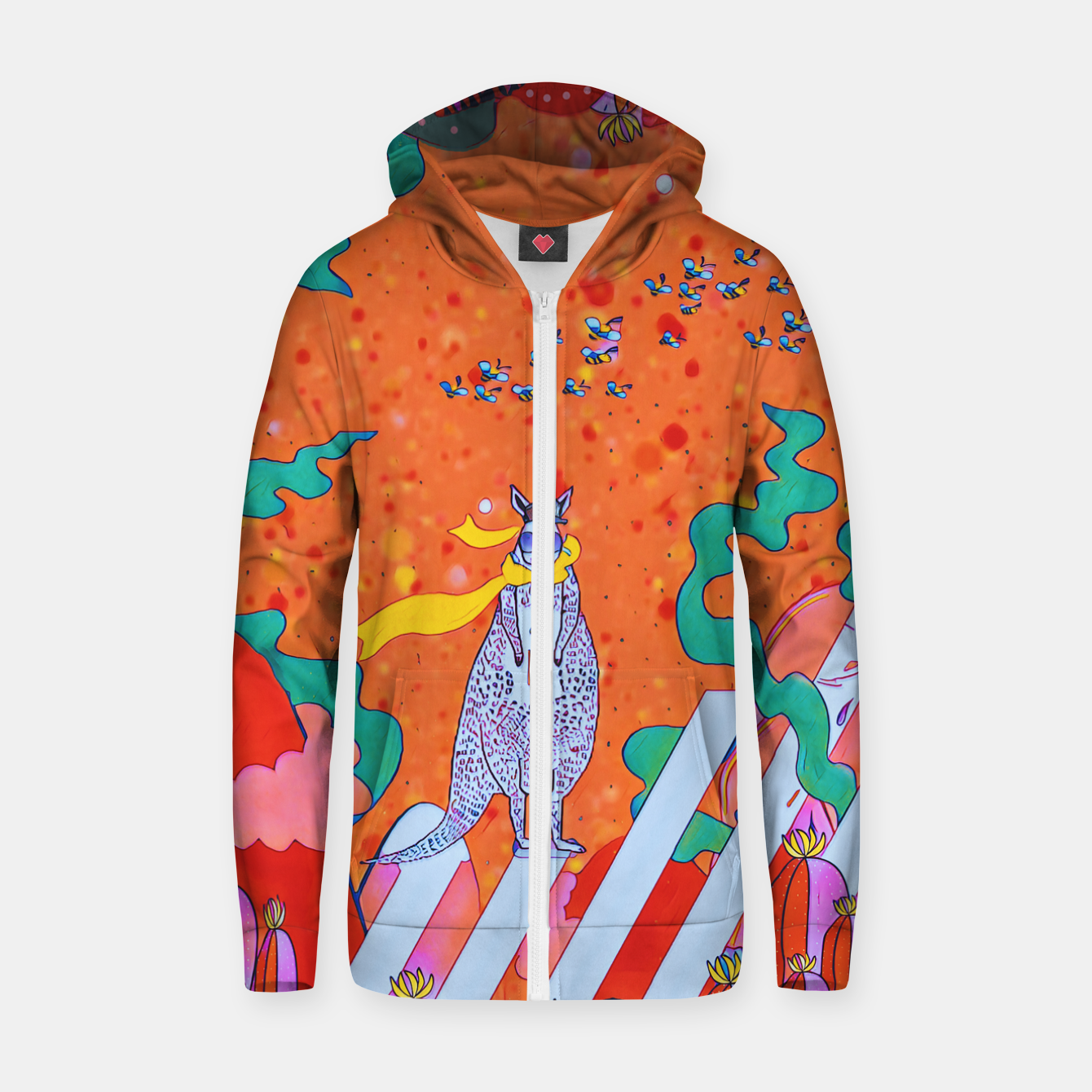 Image of Kangaroo Zip up hoodie - Live Heroes