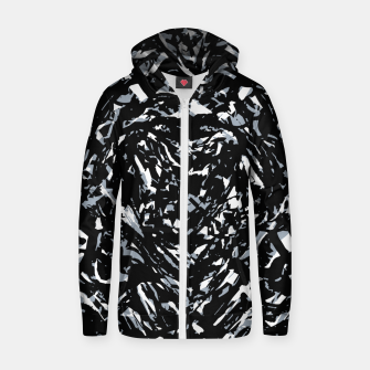 Thumbnail image of Dark Abstract Print Zip up hoodie, Live Heroes