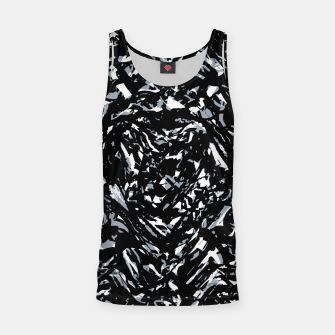 Dark Abstract Print Tank Top obraz miniatury