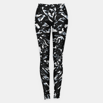 Dark Abstract Print Leggings obraz miniatury