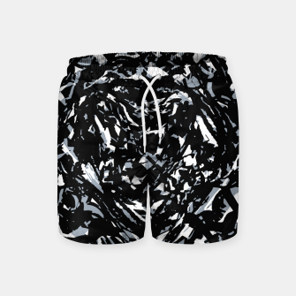 Thumbnail image of Dark Abstract Print Swim Shorts, Live Heroes