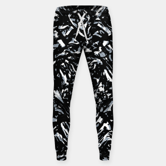 Dark Abstract Print Sweatpants obraz miniatury