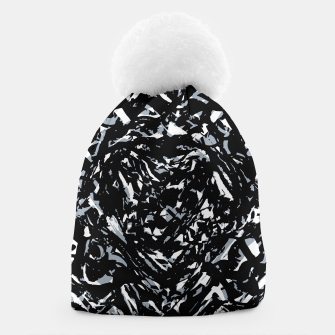 Dark Abstract Print Beanie obraz miniatury