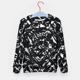 Thumbnail image of Dark Abstract Print Kid's sweater, Live Heroes