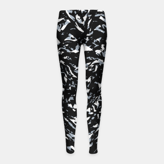 Dark Abstract Print Girl's leggings obraz miniatury