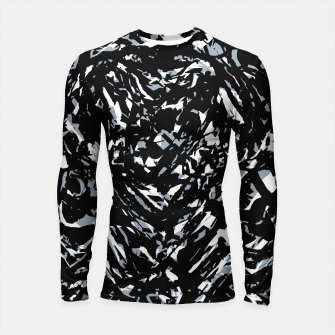 Dark Abstract Print Longsleeve rashguard  obraz miniatury