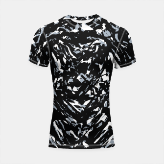Thumbnail image of Dark Abstract Print Shortsleeve rashguard, Live Heroes