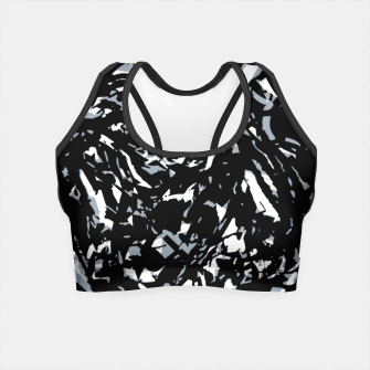 Dark Abstract Print Crop Top obraz miniatury