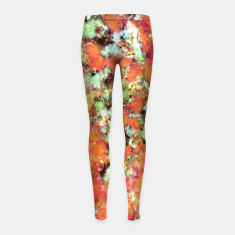 Thumbnail image of Cascading time Girl's leggings, Live Heroes