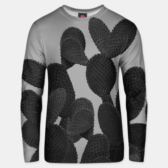 Thumbnail image of Gray Black Cactus #1 #succulent #decor #art  Unisex sweatshirt, Live Heroes