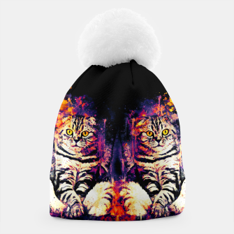 Thumbnail image of cat sitting like human ws fn Beanie, Live Heroes
