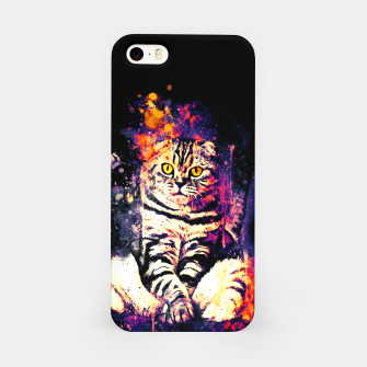 cat sitting like human ws fn iPhone Case miniature