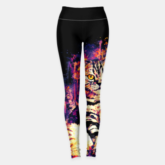 Miniature de image de cat sitting like human ws fn Leggings, Live Heroes