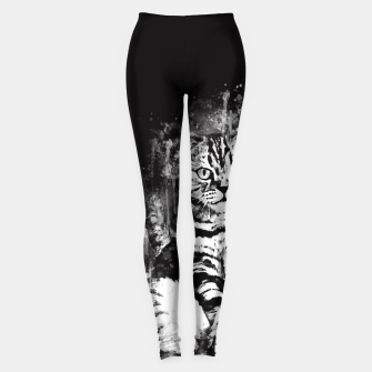 cat sitting like human ws bw Leggings thumbnail image