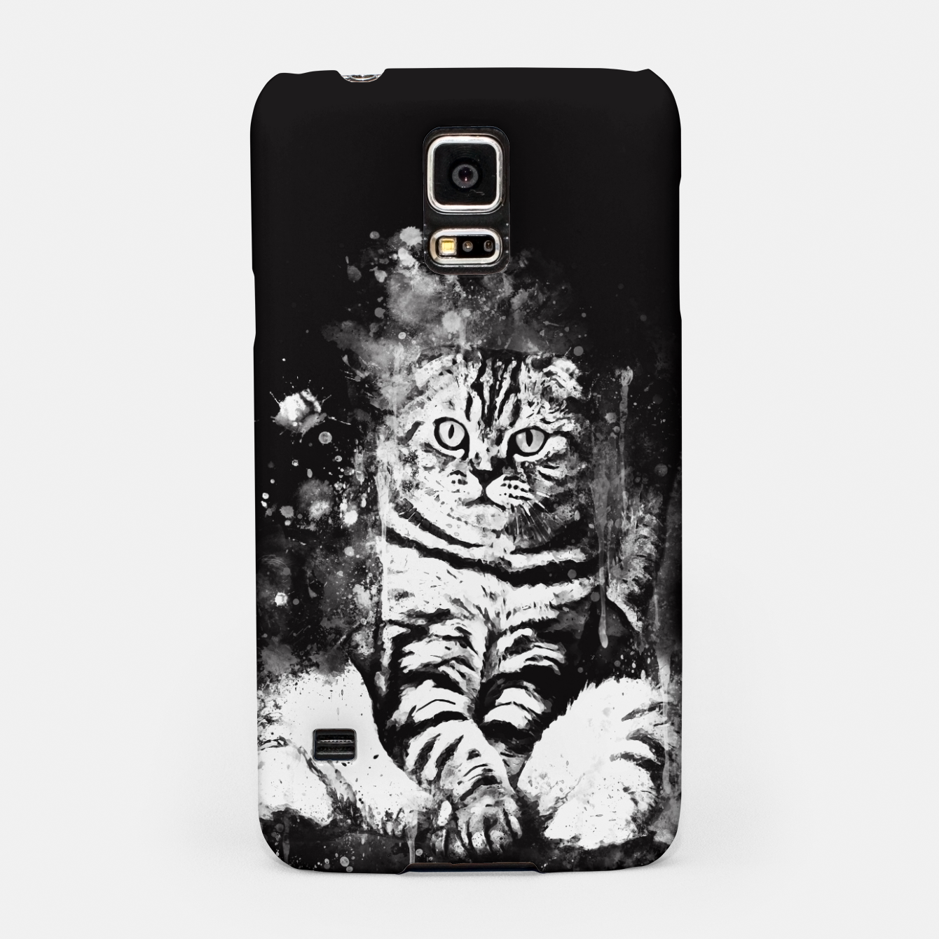 Image of cat sitting like human ws bw Samsung Case - Live Heroes