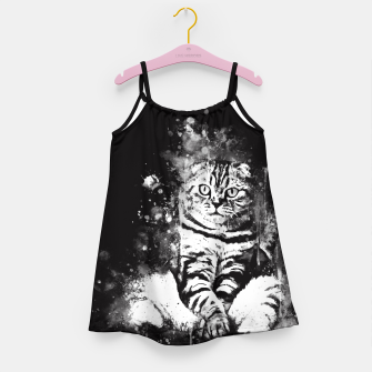 Thumbnail image of cat sitting like human ws bw Girl's dress, Live Heroes