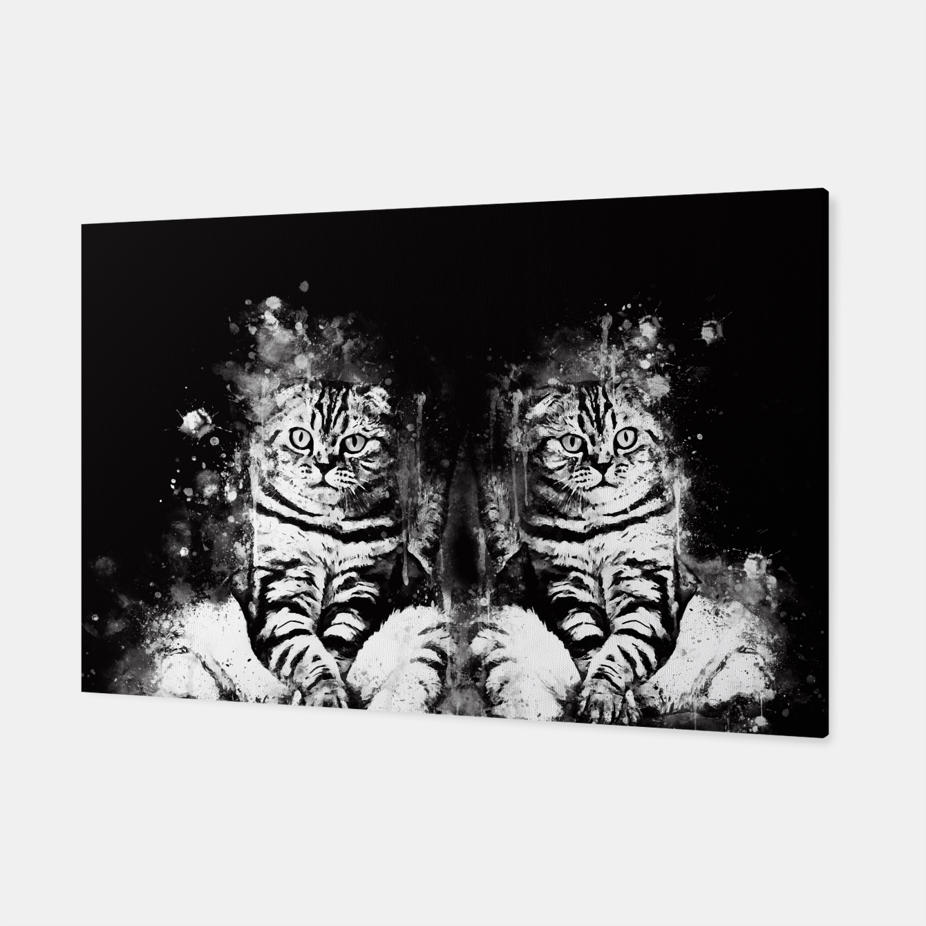 Image of cat sitting like human ws bw Canvas - Live Heroes