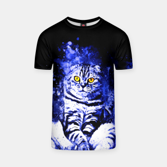 Miniature de image de cat sitting like human ws db T-shirt, Live Heroes