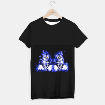 Miniature de image de cat sitting like human ws db T-shirt regular, Live Heroes