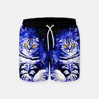 cat sitting like human ws db Swim Shorts thumbnail image