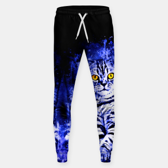 cat sitting like human ws db Sweatpants thumbnail image