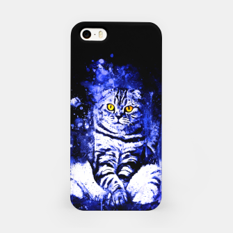 cat sitting like human ws db iPhone Case thumbnail image