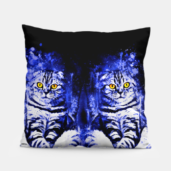 cat sitting like human ws db Pillow thumbnail image