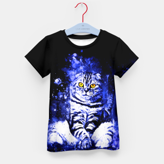 Miniature de image de cat sitting like human ws db Kid's t-shirt, Live Heroes