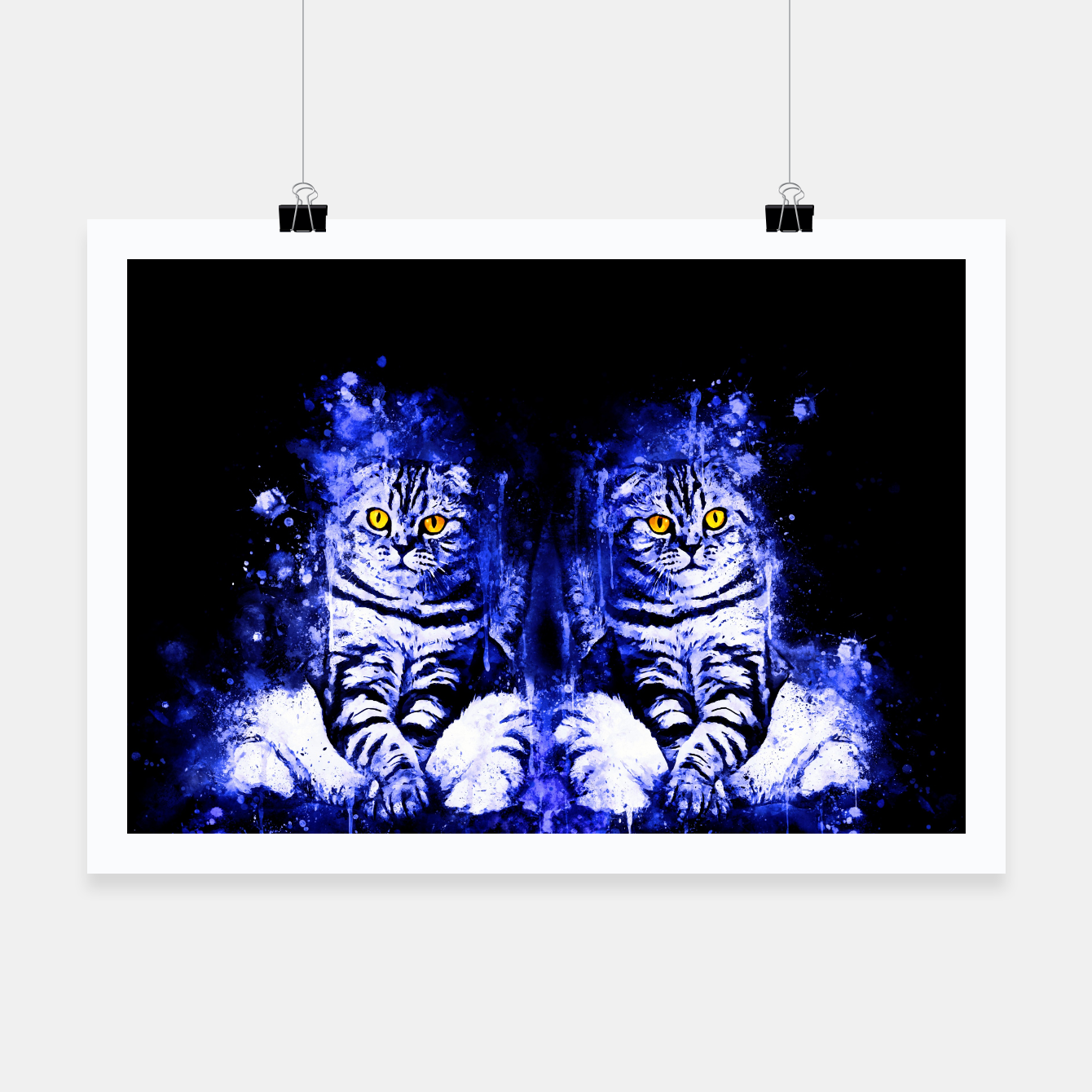 Image of cat sitting like human ws db Poster - Live Heroes