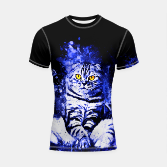 cat sitting like human ws db Shortsleeve rashguard thumbnail image