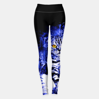 cat sitting like human ws db Leggings thumbnail image